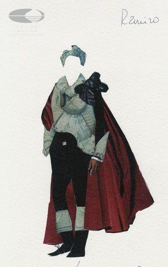 苟一戈/摄 灰姑娘安杰利娜服装设计手稿(服装设计:路易·德希雷)