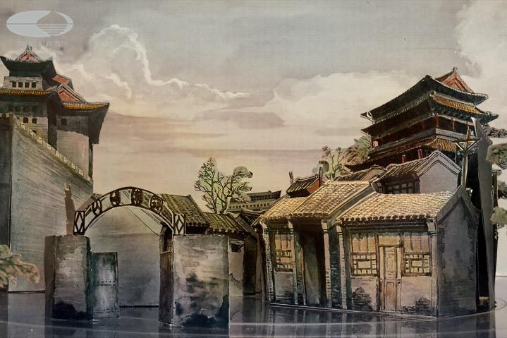 古镇建筑舞美骆驼祥子高清图片-古镇建筑舞美