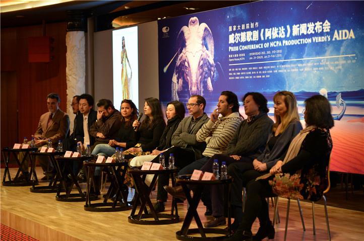 剧目生产 院藏剧目  歌剧《阿依达》海报 《阿依达》众主创主演集体